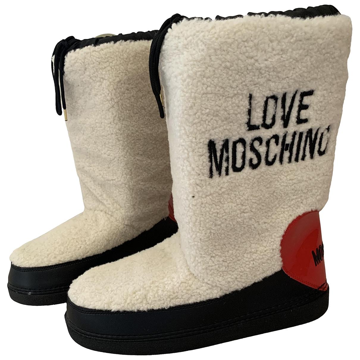 Moschino Love - Bottes   pour femme en fourrure synthetique
