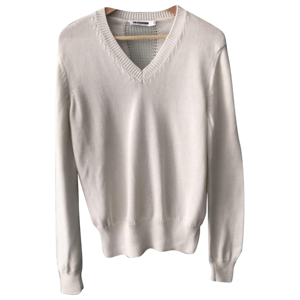 Jil Sander - Pull   pour femme en coton - blanc