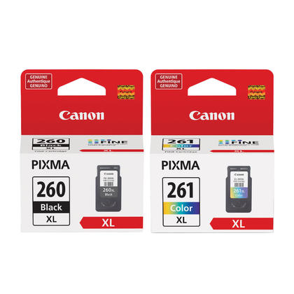 Canon PG-260XL CL-261XL Original Ink Cartridge Combo High Yield
