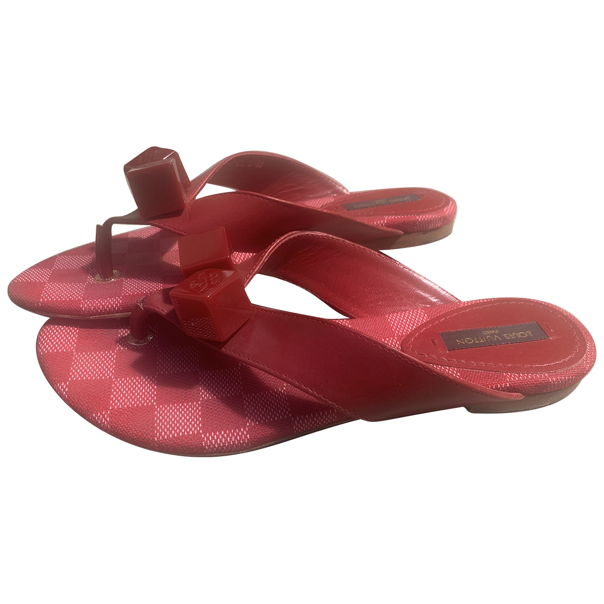 Louis Vuitton \N Red Leather Sandals for Women 36 EU