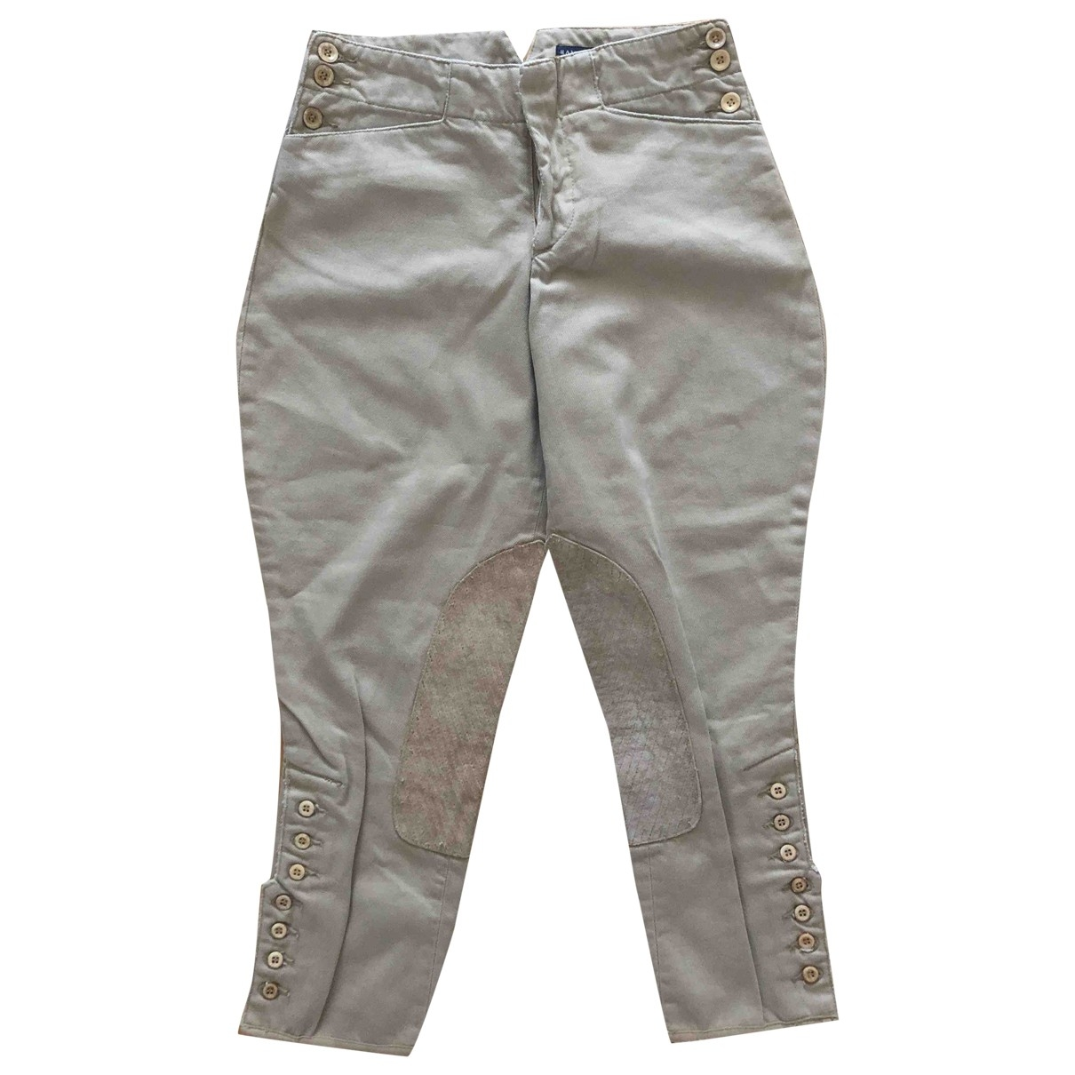 Ralph Lauren \N Beige Cotton Trousers for Women 6 US