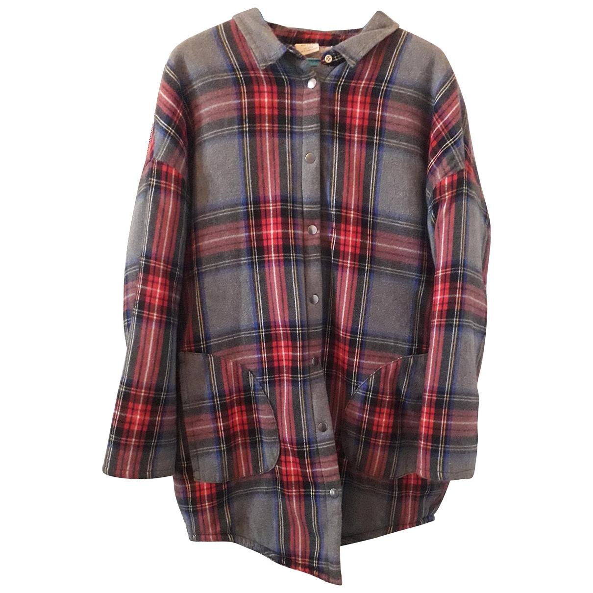 Zara - Blousons.Manteaux   pour enfant en laine - multicolore