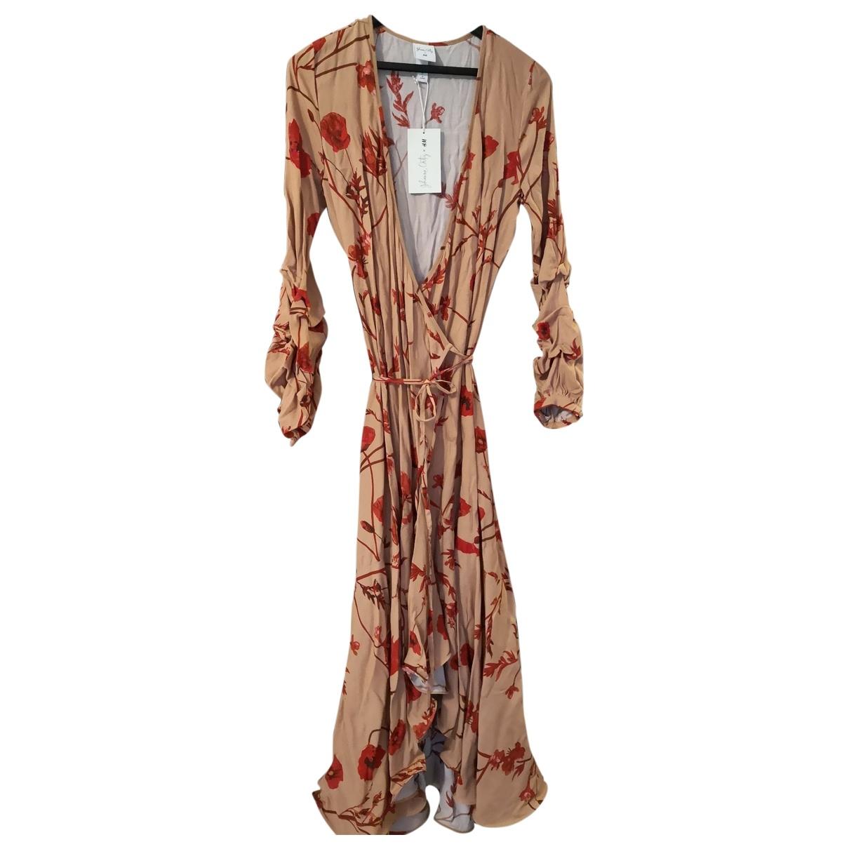 Johanna Ortiz X H&m \N Kleid in  Beige Viskose