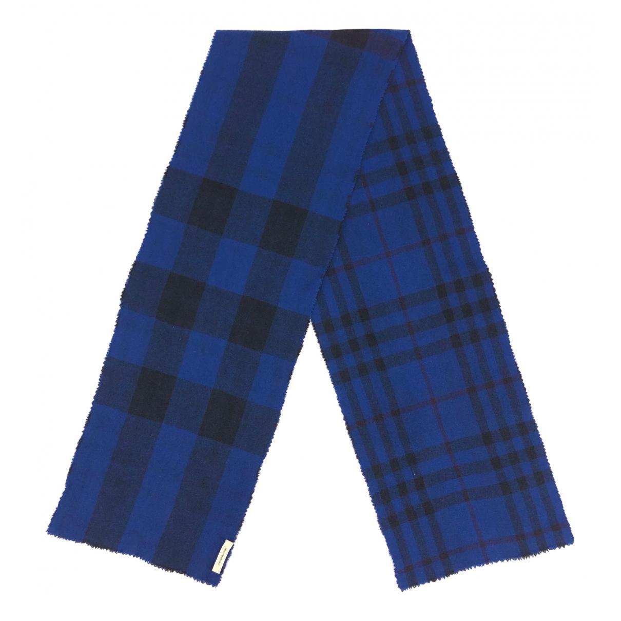 Burberry N Blue Wool scarf for Women N