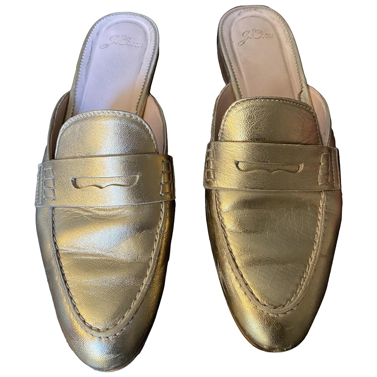 J.crew \N Mokassins in  Gold Leder