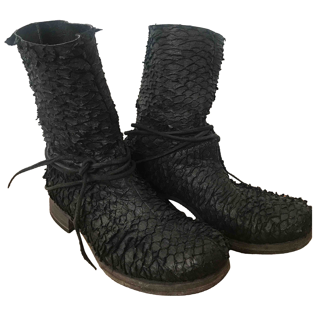 Ma+ \N Black Exotic leathers Boots for Women 40 IT