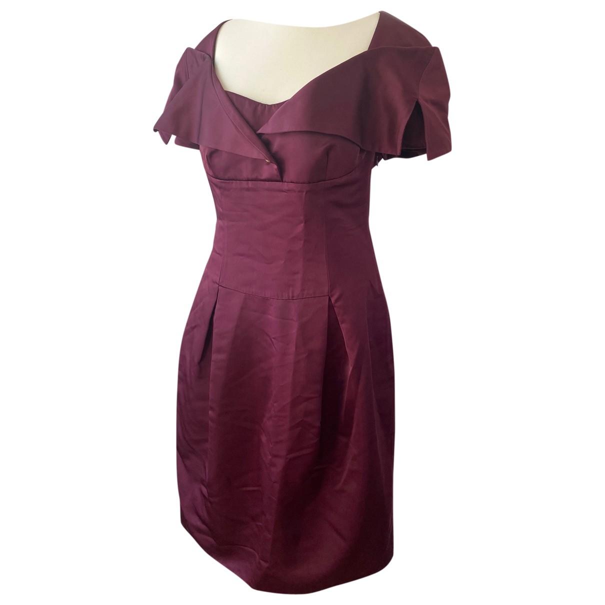 Vivienne Westwood Red Label \N Burgundy Silk dress for Women 46 FR