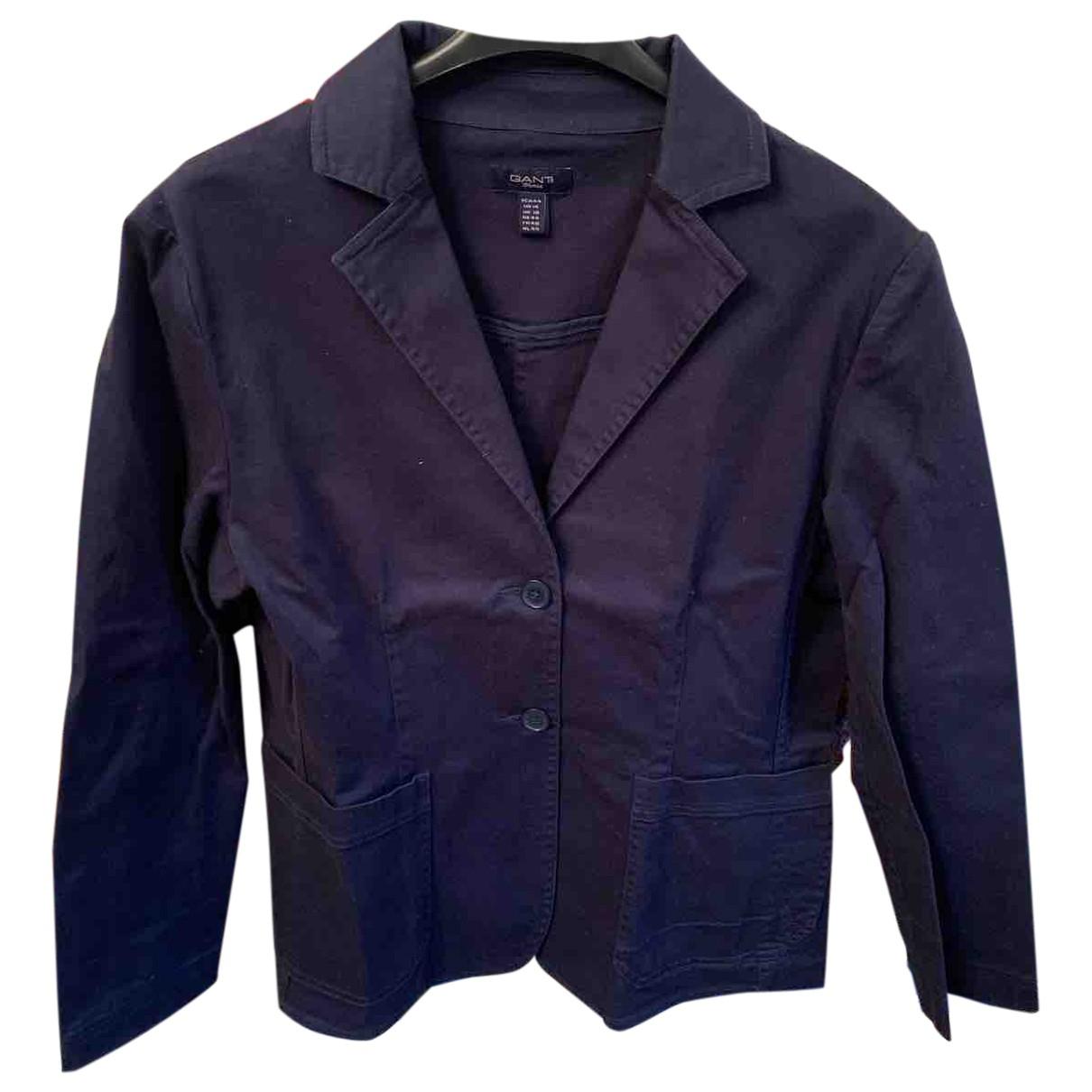 Gant \N Jacke in  Blau Baumwolle
