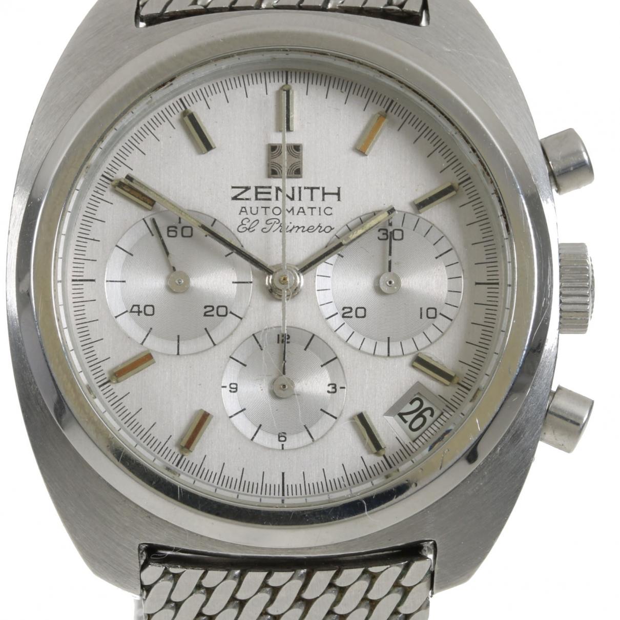 Zenith - Montre El Primero  pour homme en acier - argente