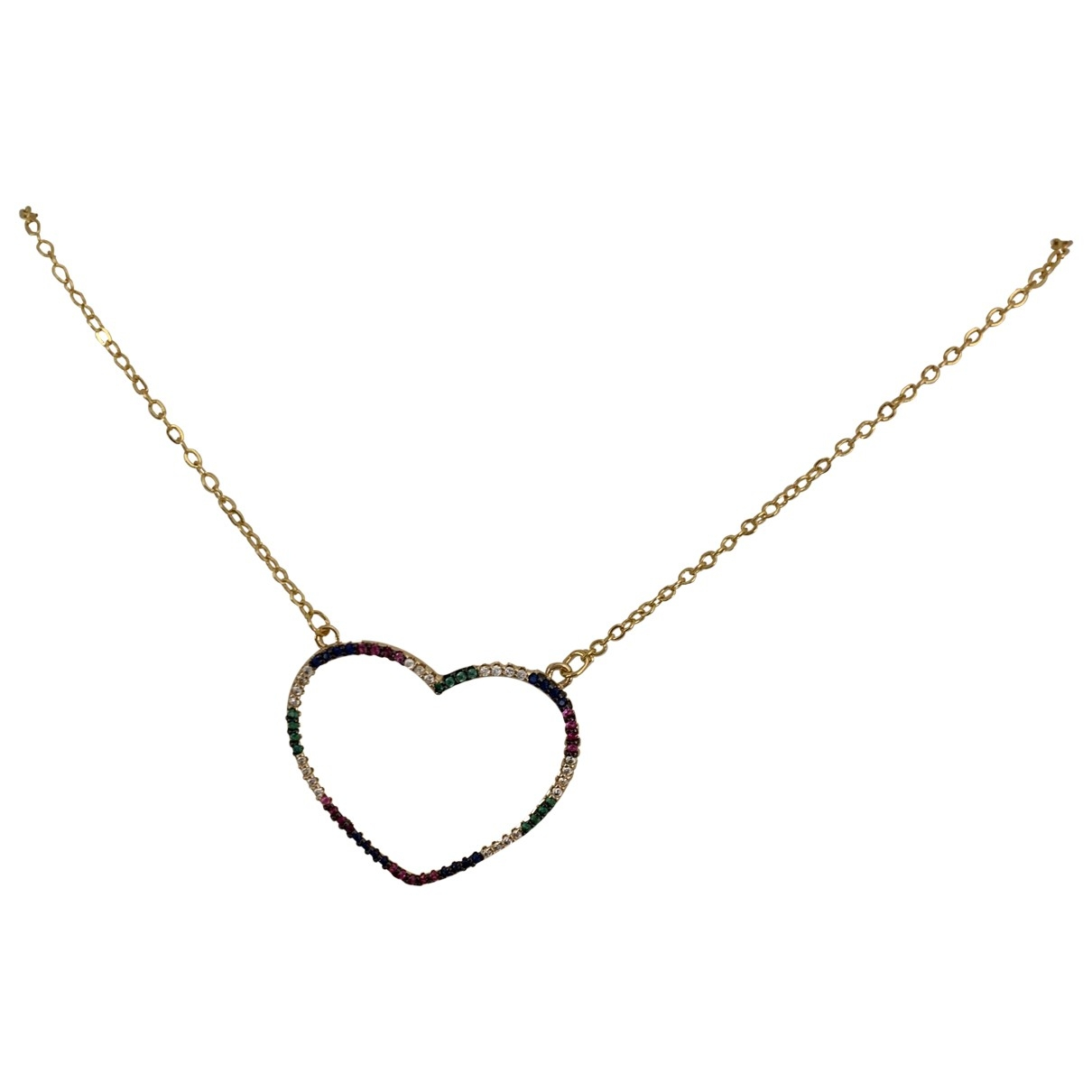 Non Signé / Unsigned \N Gold Steel necklace for Women \N