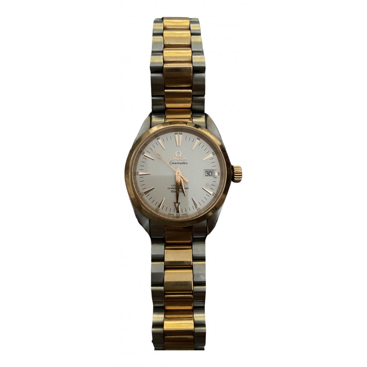 Omega Seamaster Aquaterra Uhr in Gold und Stahl