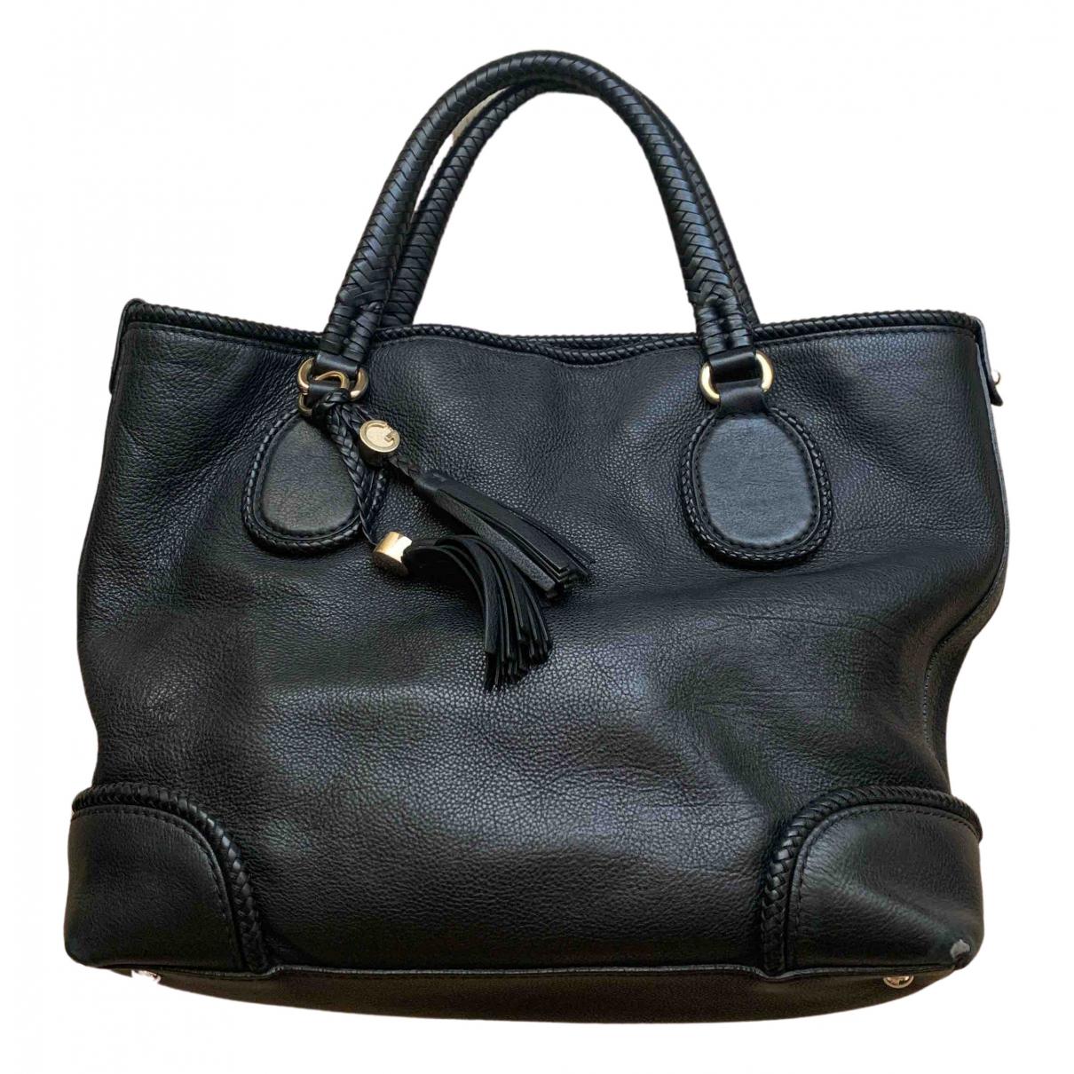 Gucci - Sac a main   pour femme en cuir - noir