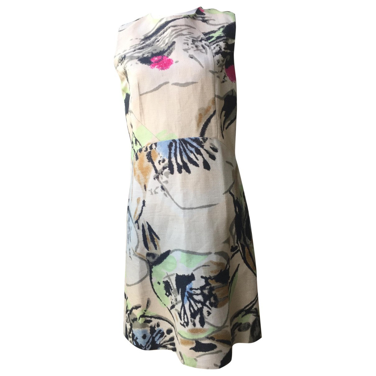 Marni \N Kleid in  Beige Leinen