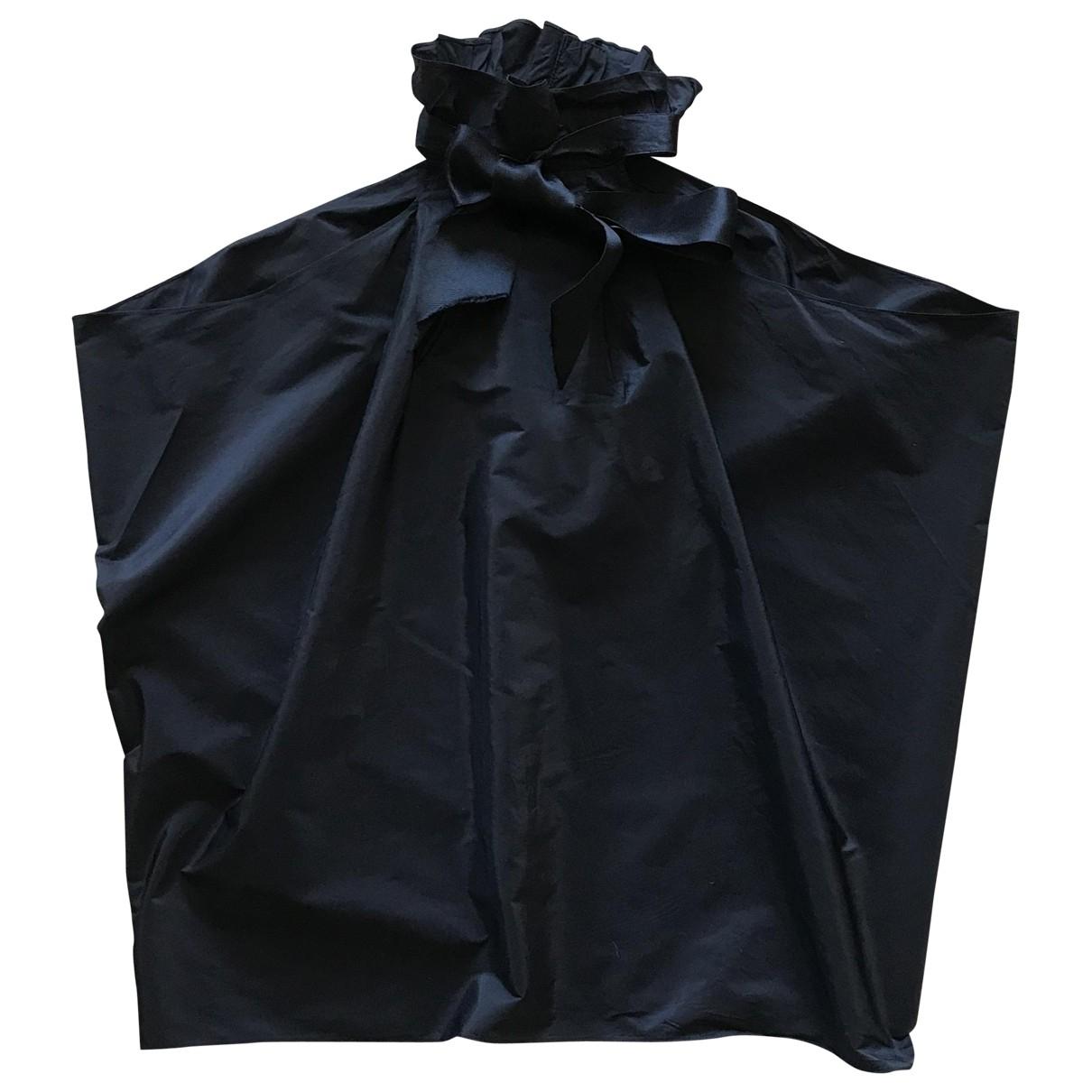 Lanvin \N Black Silk  top for Women 42 FR