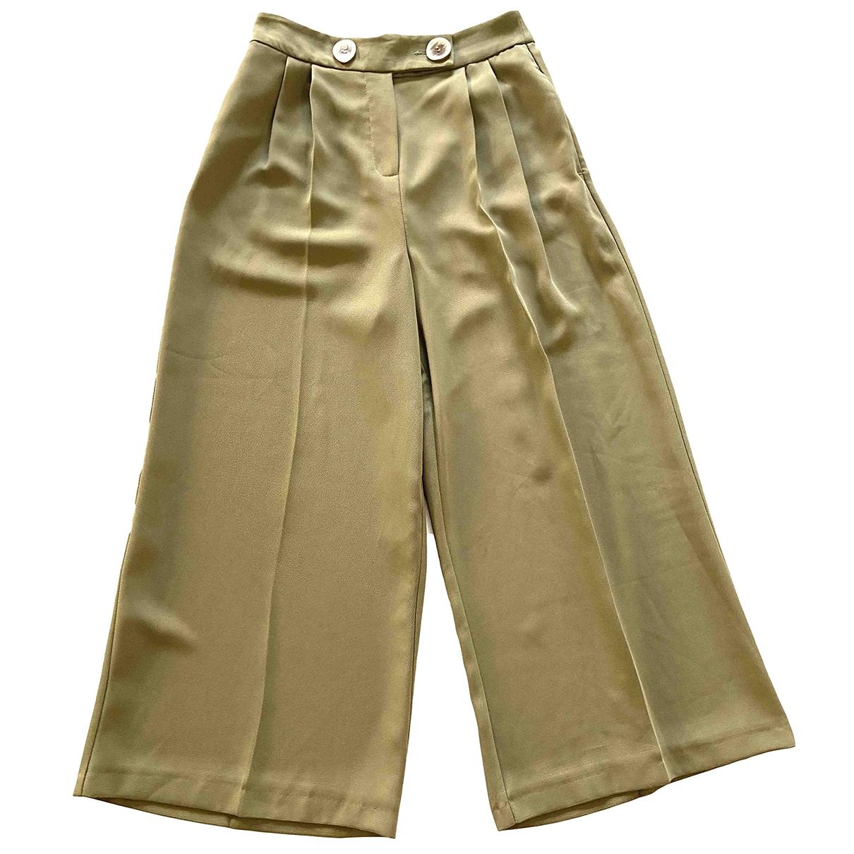 Pantalon en Poliester Verde Topshop