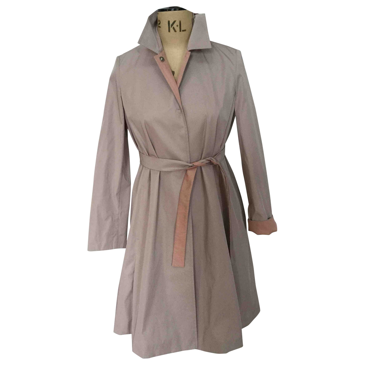 Max Mara Studio \N Trench in  Beige Polyester
