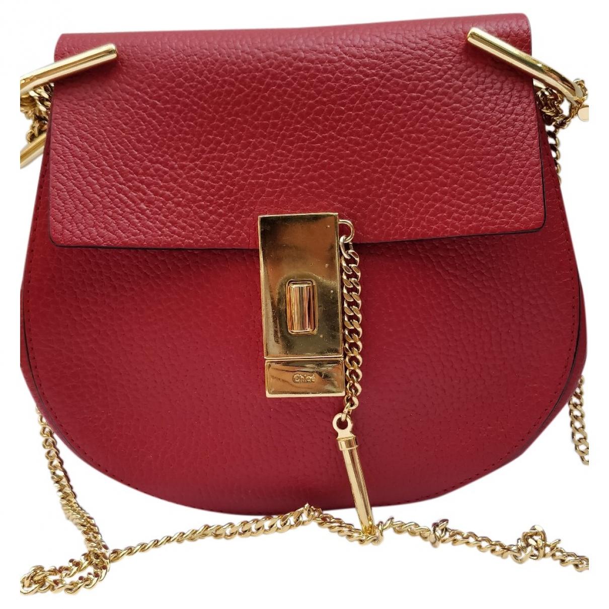 Chloe Drew Handtasche in  Rot Leder