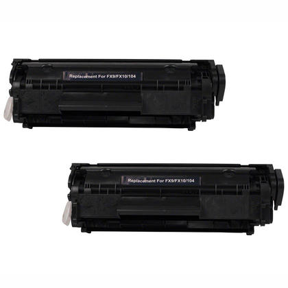 Compatible Canon 104 0263B001AA Black Toner Cartridge - Economical Box - 2/Pack