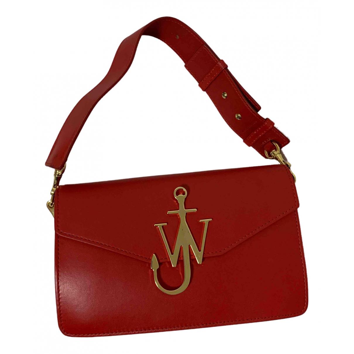 J.w. Anderson Logo Handtasche in  Rot Leder