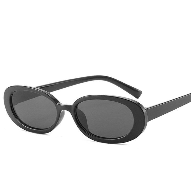 Woman Oval Cow Color Retro Sunglasses Small Frame Fshion Sunglasses