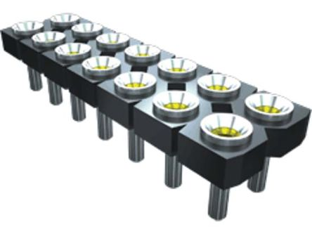Samtec , SDL 2.54mm Pitch 20 Way 2 Row Vertical PCB Socket, Through Hole, Solder Termination (22)