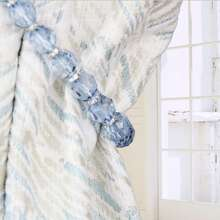 1 Stueck Vorhangband mit Perlen
