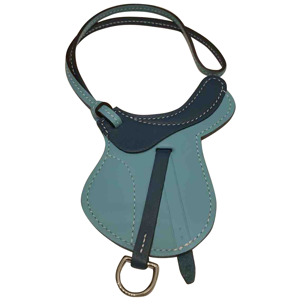 Hermes Paddock Kleinlederwaren in  Blau Leder