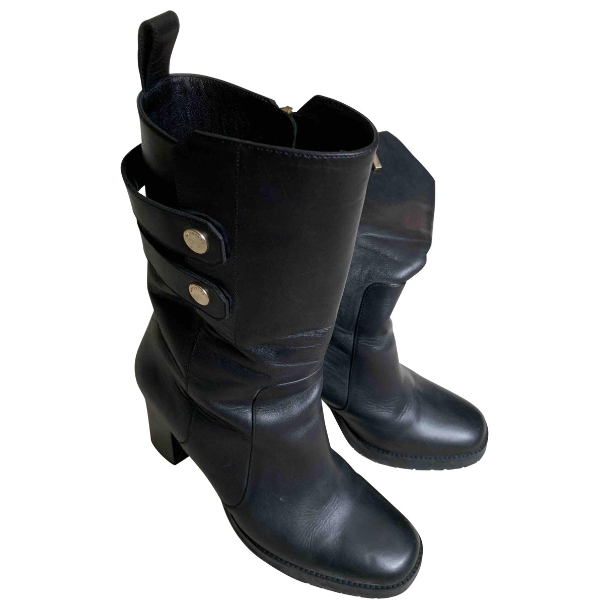 Whistles \N Black Leather Boots for Women 39 EU