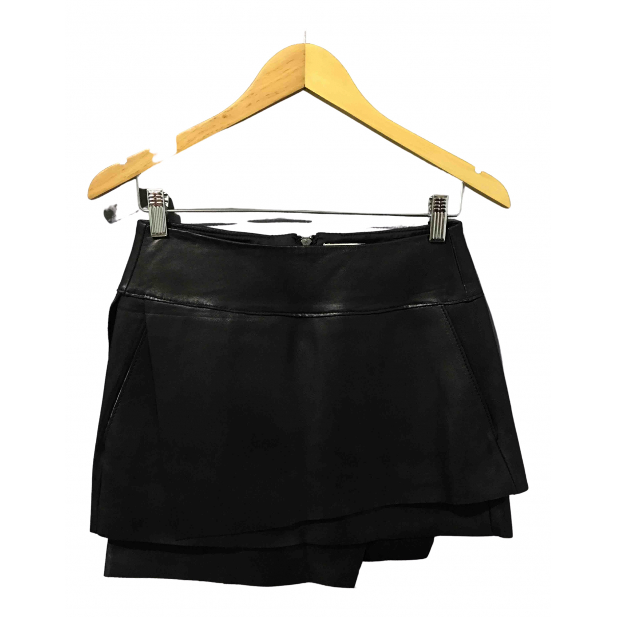 Helmut Lang \N Black Leather skirt for Women 4 UK