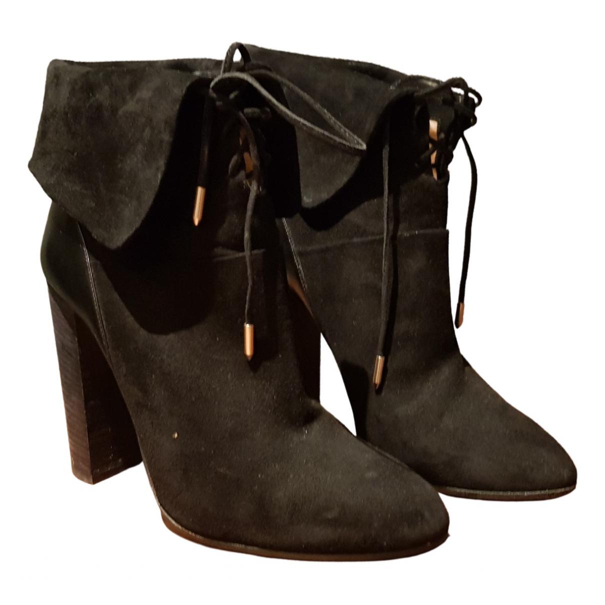 Aquazzura \N Black Suede Boots for Women 40 EU