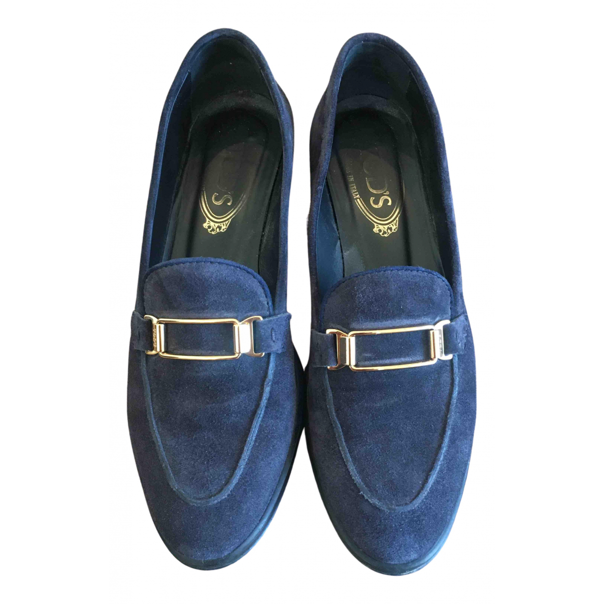 Tod's \N Blue Suede Flats for Women 37.5 IT