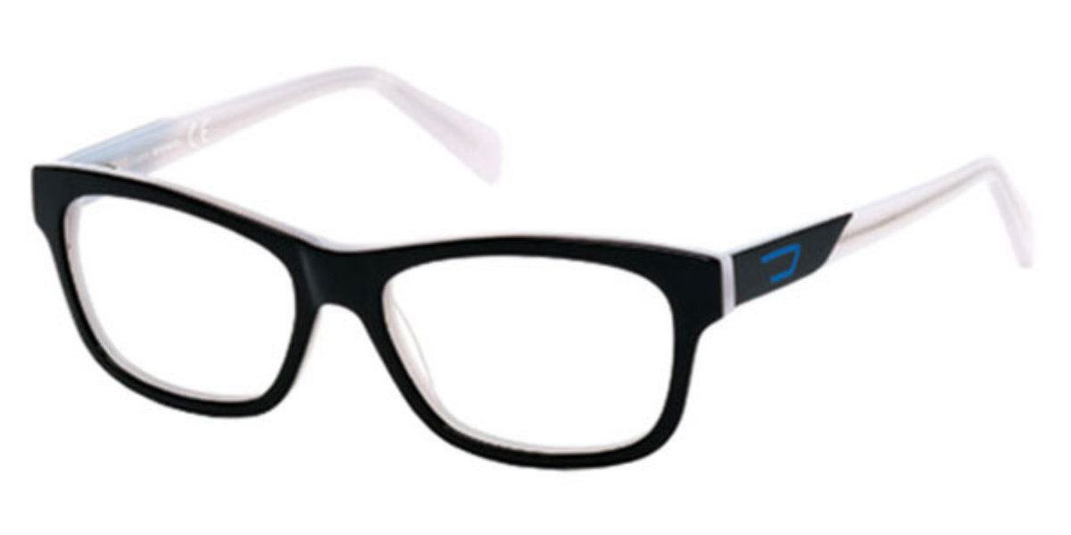 Diesel DL5040 004 Men's Glasses White Size 54 - Free Lenses - HSA/FSA Insurance - Blue Light Block Available