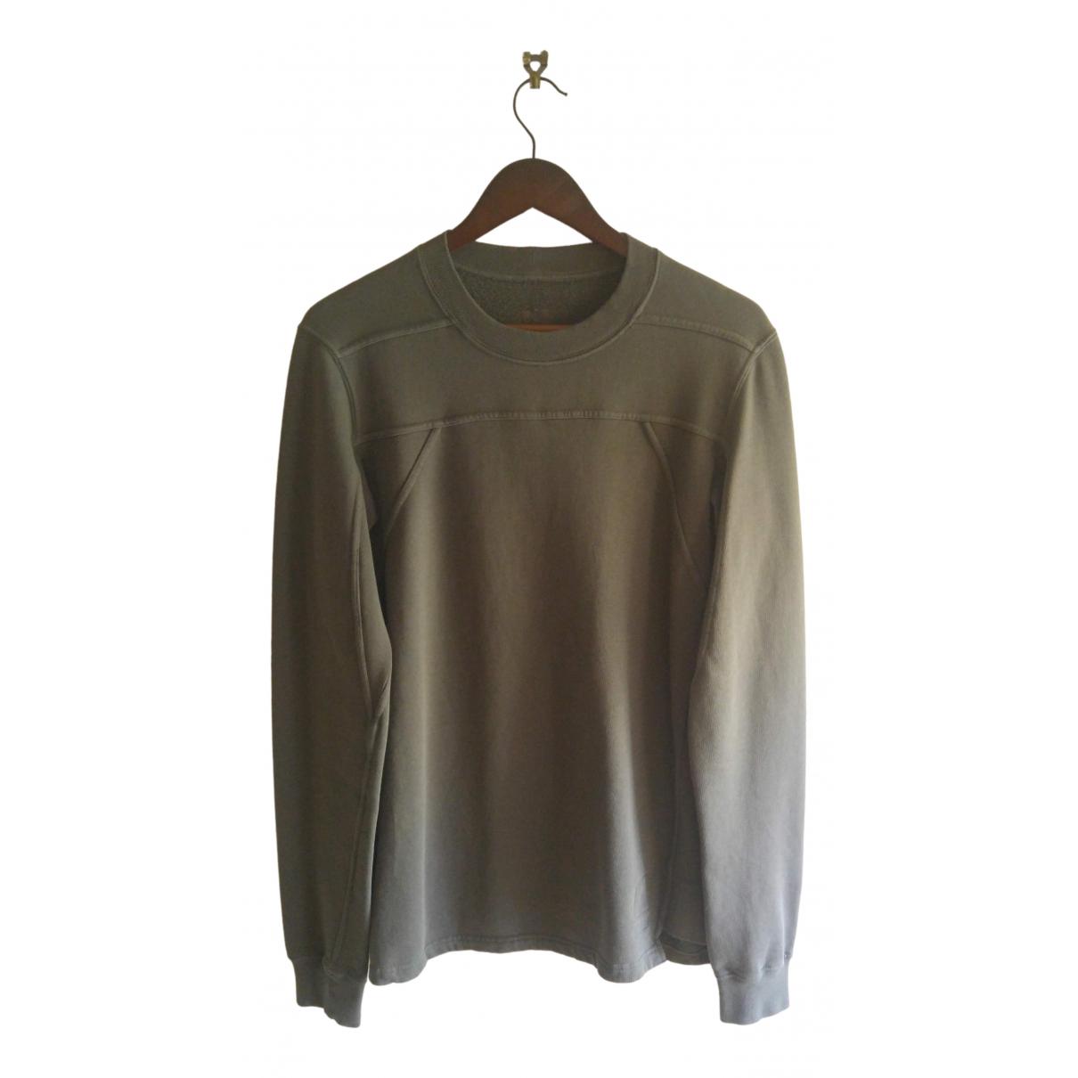 Rick Owens Drkshdw \N Pullover.Westen.Sweatshirts  in  Gruen Baumwolle