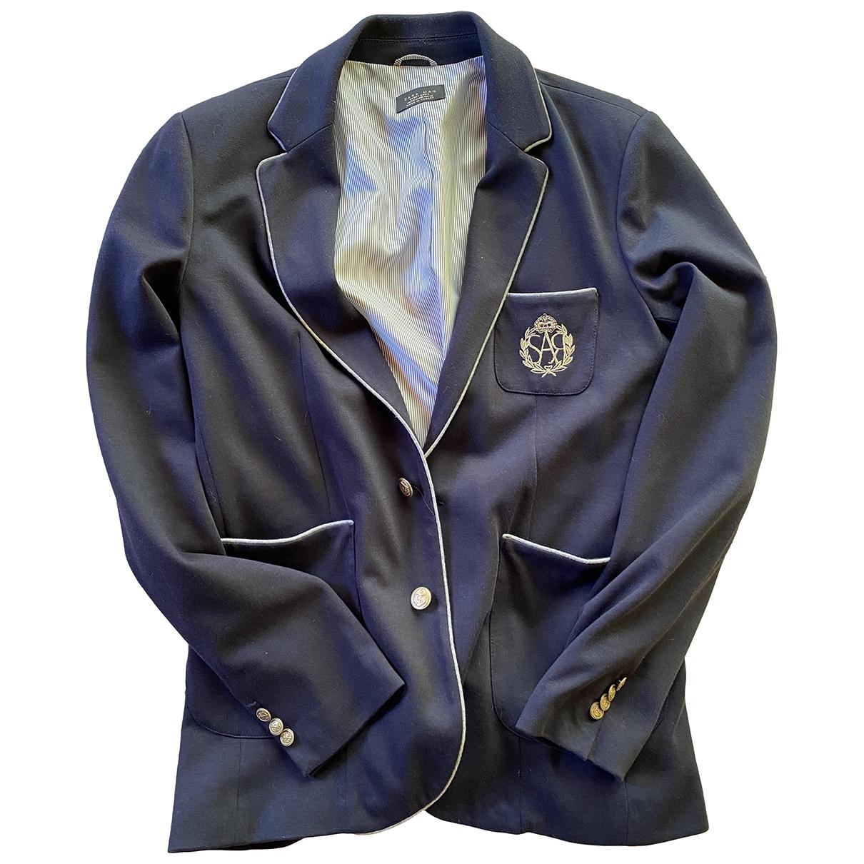 Zara \N Blue Cotton jacket  for Men XXL International