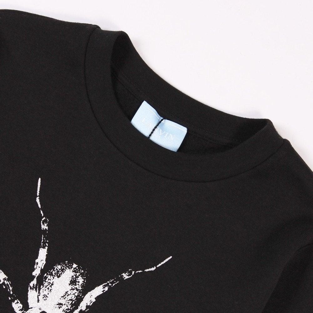 Lanvin Kids Spider Logo Sweatshirt Black  Colour: BLACK, Size: 8 YEARS