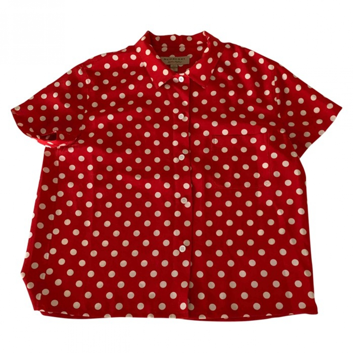 Burberry \N Top in  Rot Polyester