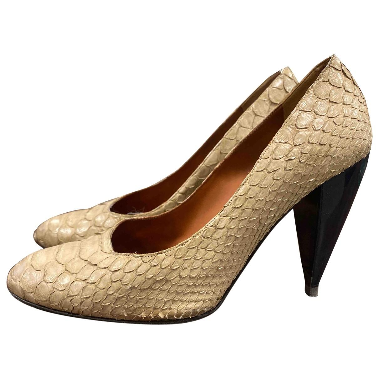 Lanvin - Escarpins   pour femme en cuir - beige