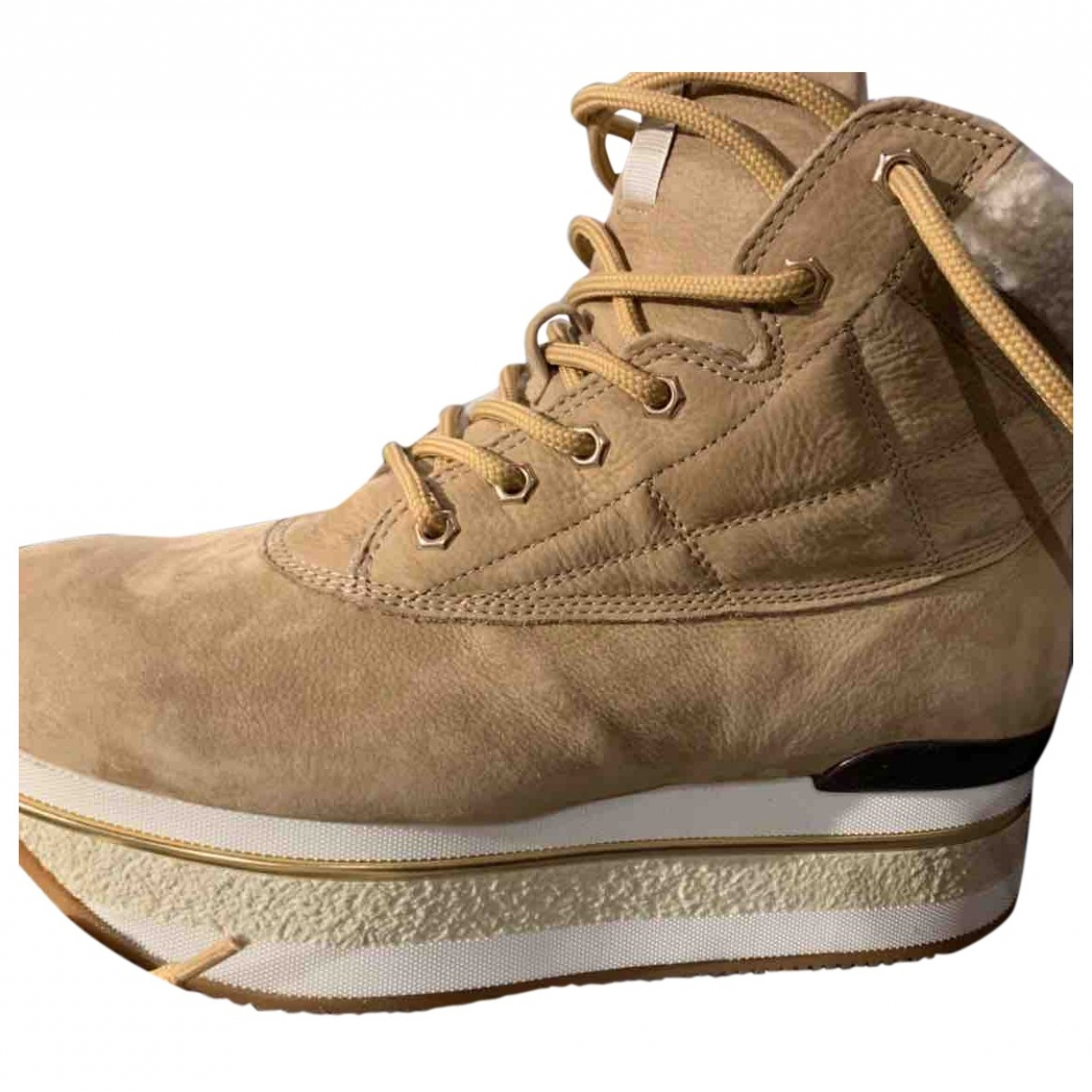 Hogan \N Beige Faux fur Ankle boots for Women 39 EU
