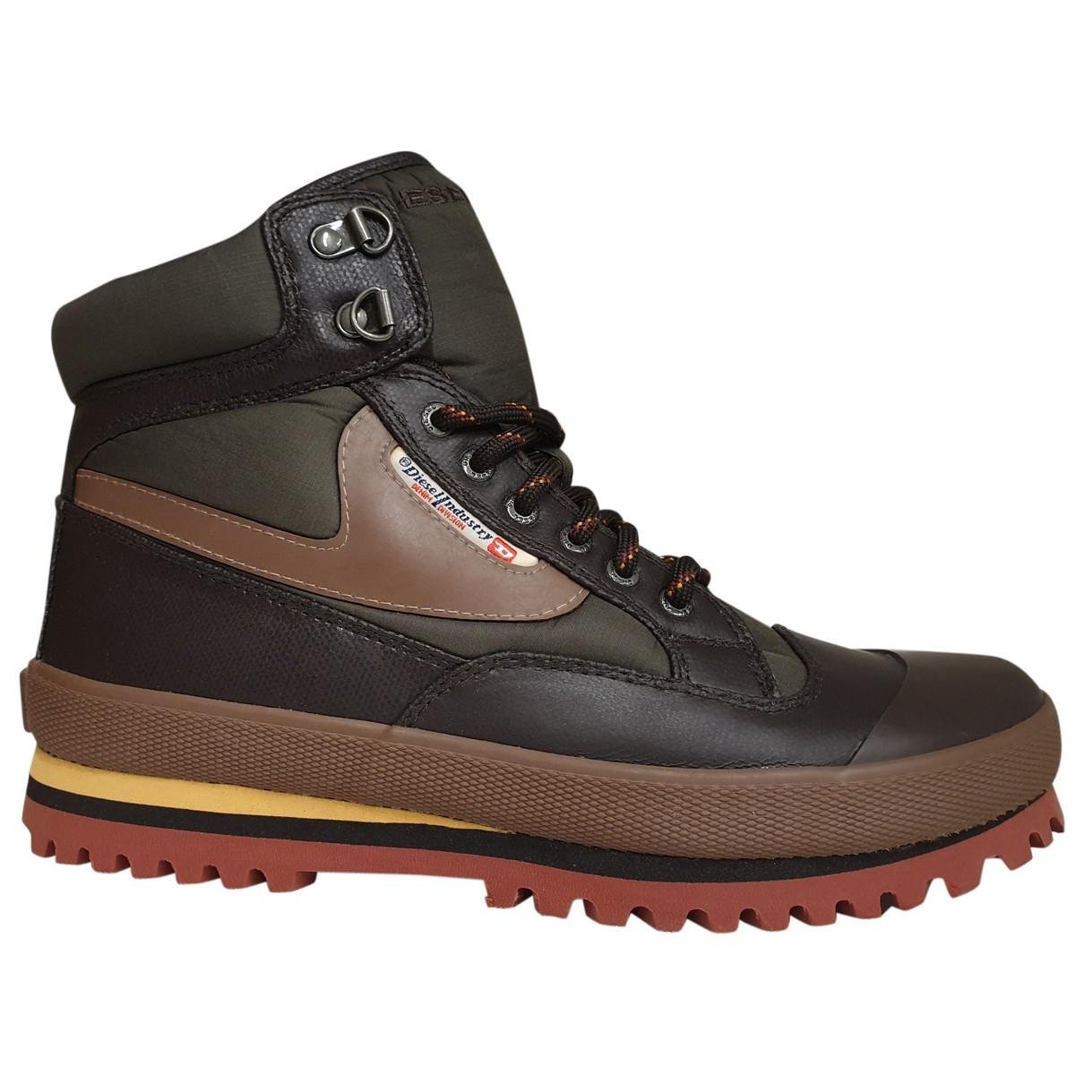 Diesel \N Brown Leather Boots for Men 41 EU