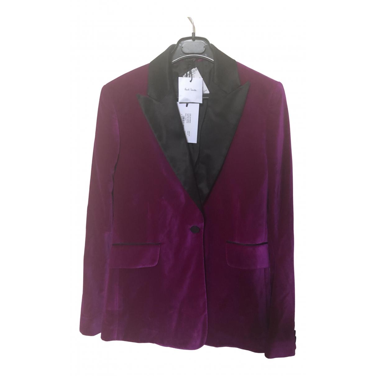 Paul Smith - Veste   pour femme en velours - violet