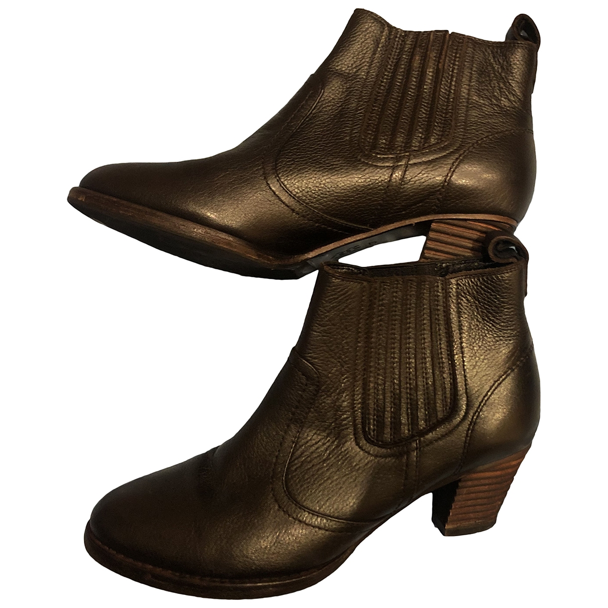 Pablo \N Brown Leather Ankle boots for Women 37 EU