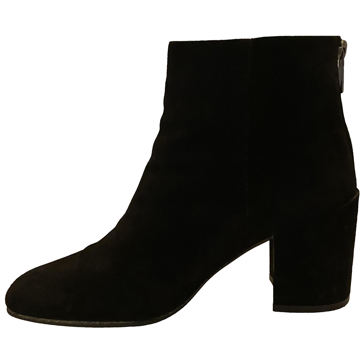 Stuart Weitzman \N Black Suede Ankle boots for Women 39 EU