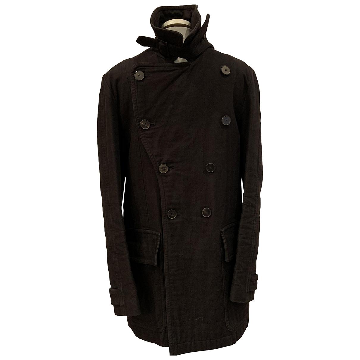 Yves Saint Laurent \N Black Cotton coat  for Men 46 IT