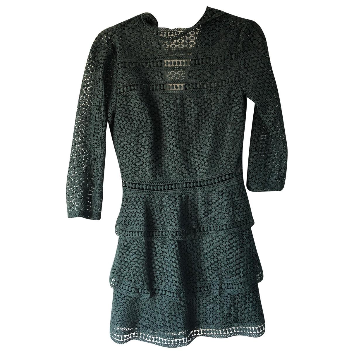 - Robe   pour femme en dentelle - vert