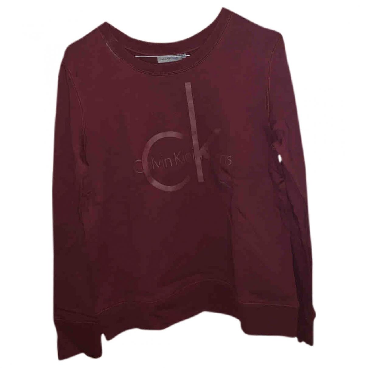 Calvin Klein - Pull   pour femme en coton - bordeaux