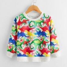 Sweatshirt mit Dinosaurier Muster