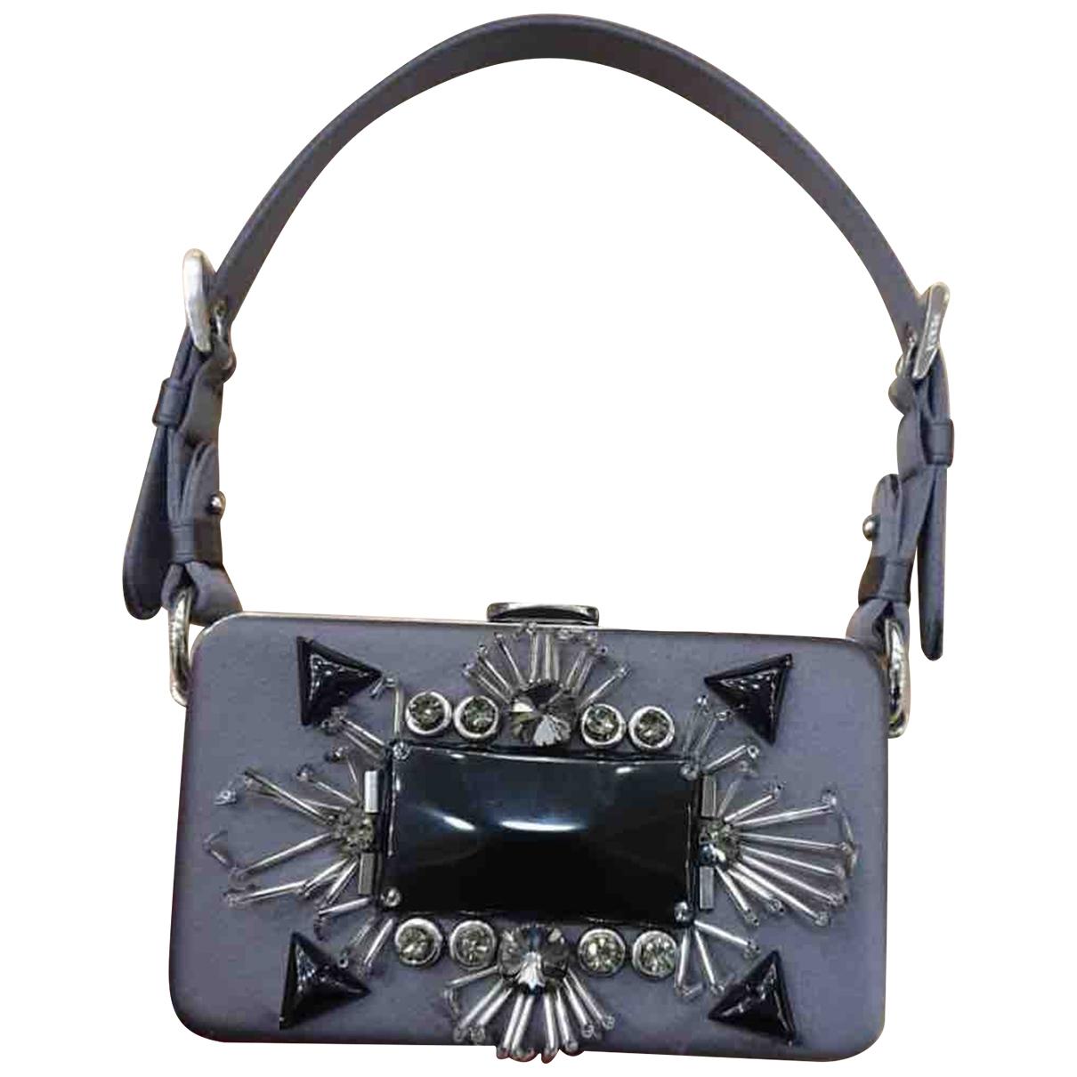 Prada \N Grey Cloth Clutch bag for Women \N