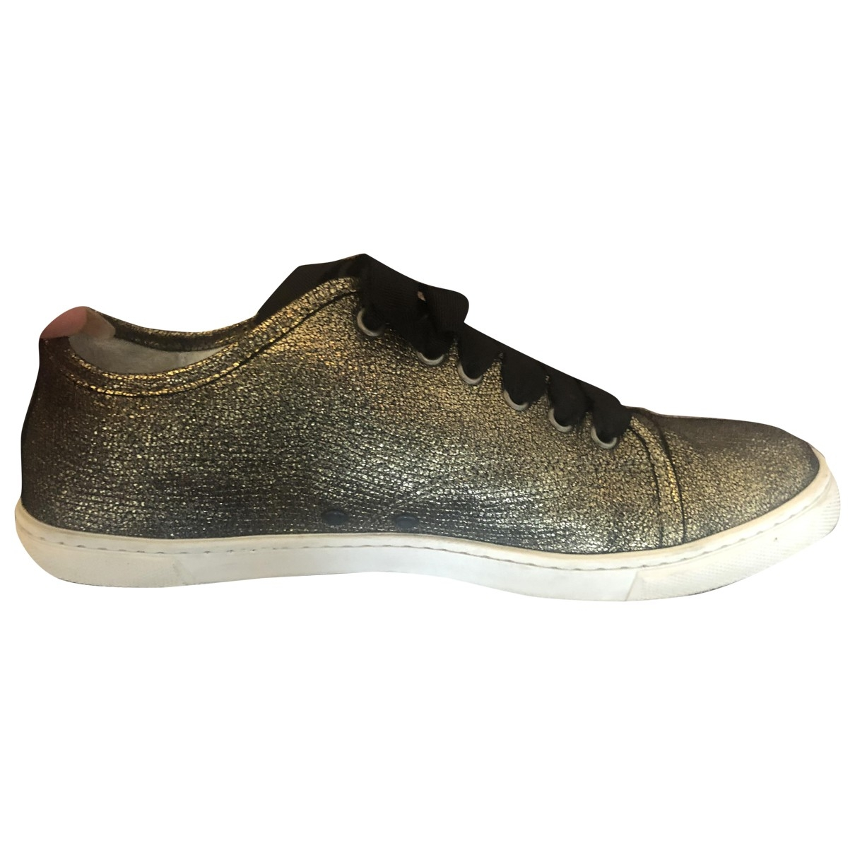 Lanvin \N Gold Leather Trainers for Women 40 EU