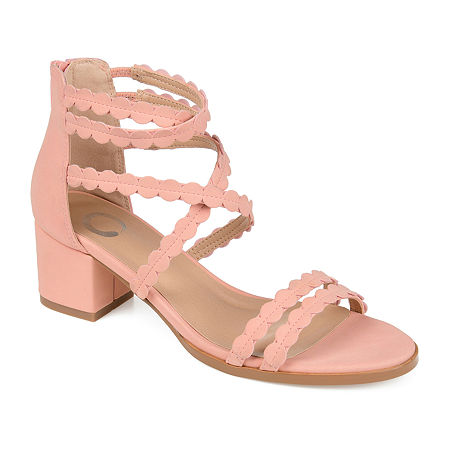 Journee Collection Womens Jasiri Pumps Block Heel, 6 Medium, Pink