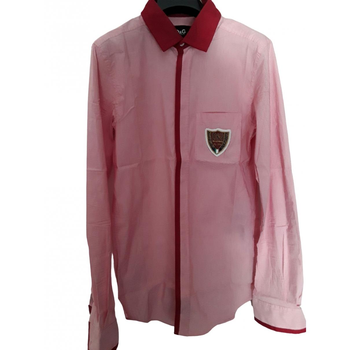 D&g - Chemises   pour homme en coton - rose